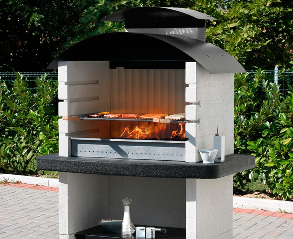 Barbacoas y hornos chimeneas carmelo blanco - Barbacoa de diseno ...