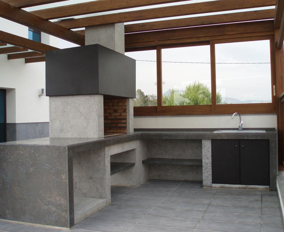 Barbacoa de dise o moderna vancouver sunday chimeneas - Paelleros de obra modernos ...