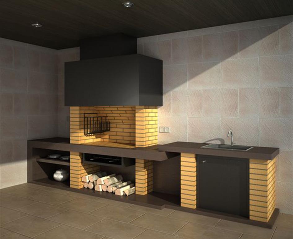 Barbacoas y hornos chimeneas carmelo blanco for Medidas de hornos pequenos