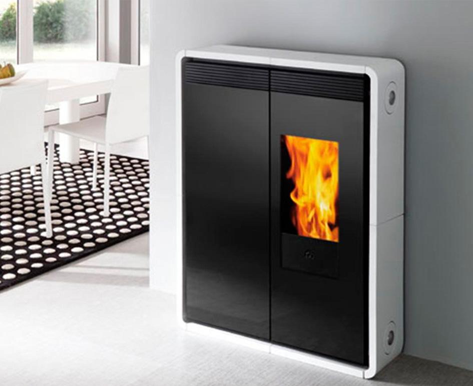 Adaptar chimenea de lea a pellets beautiful trendy - Instalar chimenea en casa ...